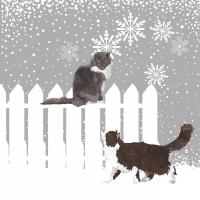 Servietten 33x33 cm - Snowfall Cats