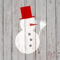 Lunch Servietten Snowman on Wood
