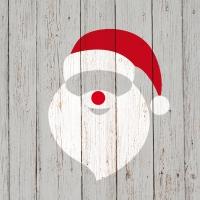 Lunch Servietten Santa on Wood