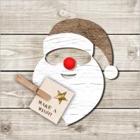 Lunch Servietten Santa Red Nose