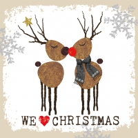 Servietten 33x33 cm - We Love Christmas