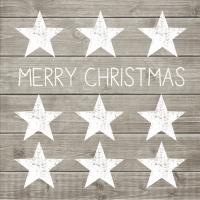 Servietten 33x33 cm - Merry Christmas Stars
