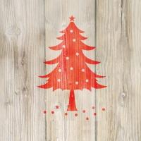 Servietten 33x33 cm - Winter Tree red