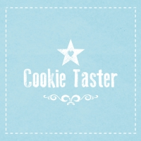 Servietten 33x33 cm - Cookie Taster blue