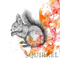 Servietten 33x33 cm - Autumn Squirrel