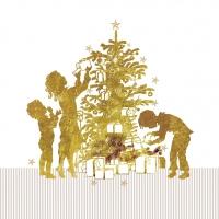 Servietten 33x33 cm - Family Papercut