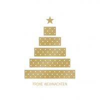Servietten 33x33 cm - Tree & Presents gold