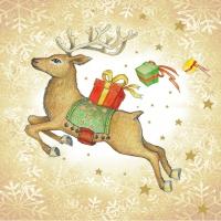 Lunch Servietten Flying Deer gold