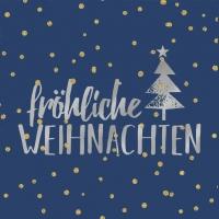 Servietten 33x33 cm - Weihnachten dark blue
