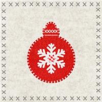 Servietten 33x33 cm - Felt Ornament