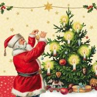 Lunch Servietten Santa & Tree
