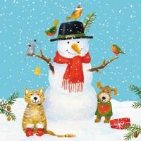 Lunch Servietten Snowman & Friends