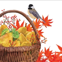 Servietten 33x33 cm - Autumn Pears