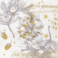 Servietten 33x33 cm - Golden Nature gold