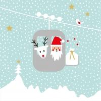 Servietten 33x33 cm - Greetings from Santa