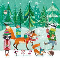 Servietten 33x33 cm - Festive Animals
