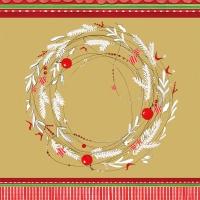 Servietten 33x33 cm - Sparkling Wreath