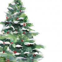 Servietten 33x33 cm - Winter Tree