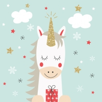 Servietten 33x33 cm - Christmas Unicorn