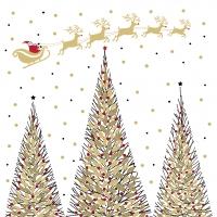 Servietten 33x33 cm - Joyeux Noel