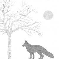 Servietten 33x33 cm - Mystic Fox silver white