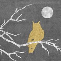 Servietten 33x33 cm - Mystic Owl anthracite gold