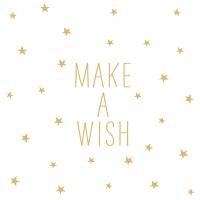 Servietten 33x33 cm - Wish
