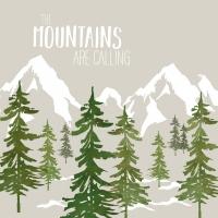Servietten 33x33 cm - Adventure Mountains t