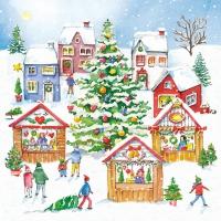 Servietten 33x33 cm - Christmas Market