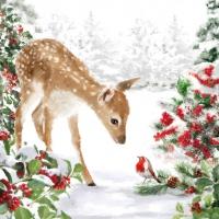 Servietten 33x33 cm - Bambi