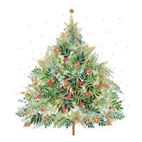 Servietten 33x33 cm - Christmas Hill Tree
