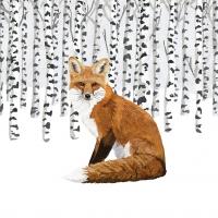 Servietten 33x33 cm - Wilderness Fox