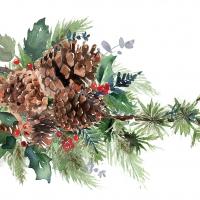 Servietten 33x33 cm - Winter Pine