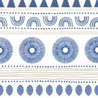 Servietten 33x33 cm - Ethno Style blue