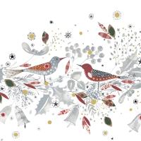 Servietten 33x33 cm - Christmas Birds