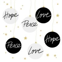Servietten 33x33 cm - Hope & Peace