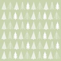 Servietten 33x33 cm - Pure Mood green Napkin 33x33