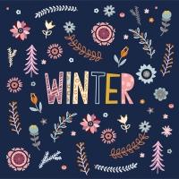 Servietten 33x33 cm - Winter Blossom