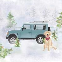 Servietten 33x33 cm - Holiday Jeep Napkin 33x33
