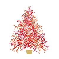Servietten 33x33 cm - Season´s Tree