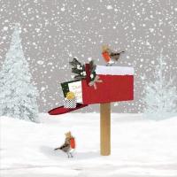Servietten 33x33 cm - Winter Mail Napkin 33x33