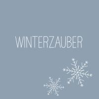 Servietten 33x33 cm - Winterzauber blau Napkin 33x33