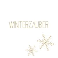 Servietten 33x33 cm - Winterzauber gold Napkin 33x33