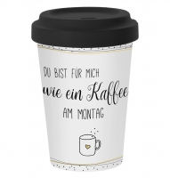Bamboo mug To-Go - Kaffee am Montag