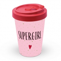 Bamboo mug To-Go -  Supergirl