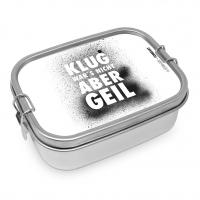Edelstahl Brotdose - Klug wars nicht Steel Lunch Box