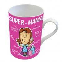 Porzellan-Tasse - Super-Mama