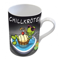 Porzellan-Tasse - Chillkröte 2.0