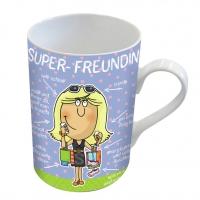 Porzellan-Tasse - Super-Freundin
