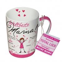 Porzellan-Tasse - Weltbeste Mama